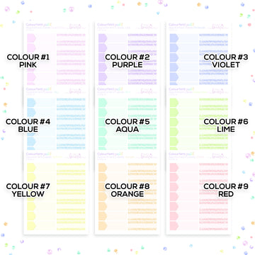 Colourfetti Pastel Collection: Appointment Labels