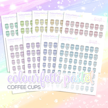 Colourfetti Pastel Collection: Coffee Cups