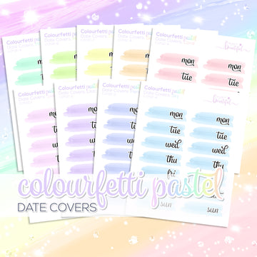 Colourfetti Pastel Collection: Date Covers
