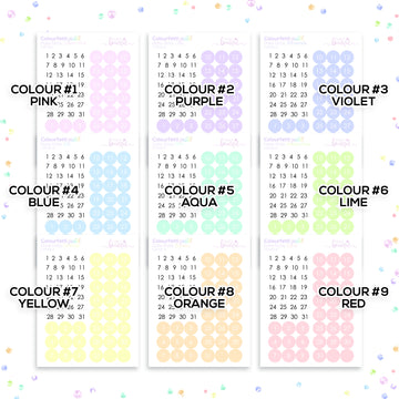 Colourfetti Pastel Collection: Date Dots