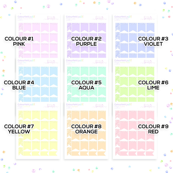 Colourfetti Pastel Collection: Flags
