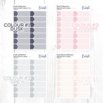 Dusk Collection: Appointment Labels