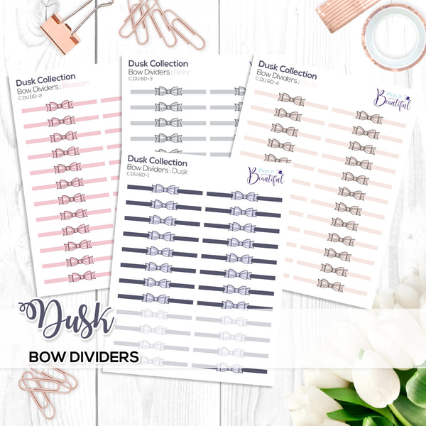 Dusk Collection: Bow Dividers