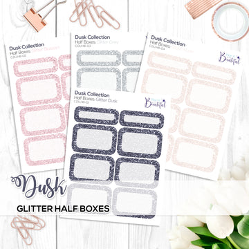 Dusk Collection: Glitter Half Boxes