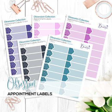 Obsession Collection: Appointment Labels