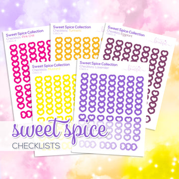 Sweet Spice Collection: Checklists