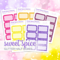 Sweet Spice Collection: Glitter Half Boxes