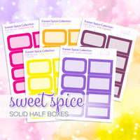 Sweet Spice Collection: Solid Colour Half Boxes