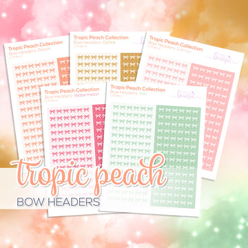 Tropic Peach Collection: Bow Headers