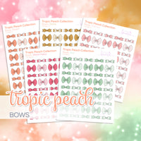 Tropic Peach Collection: Bows