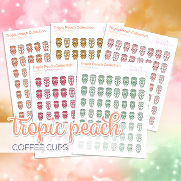 Tropic Peach Collection: Coffee Cups