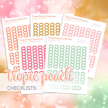 Tropic Peach Collection: Checklists