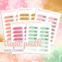 Tropic Peach Collection: Date Covers