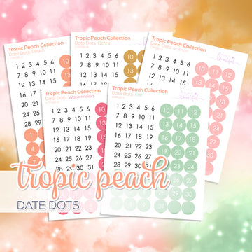 Tropic Peach Collection: Date Dots