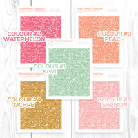 Tropic Peach Collection: Glitter Headers