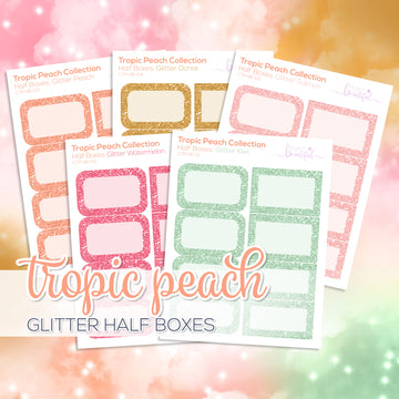 Tropic Peach Collection: Glitter Half Boxes