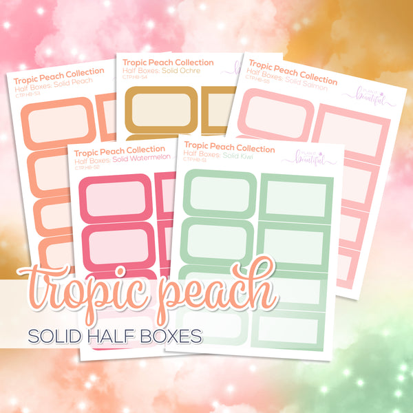 Tropic Peach Collection: Solid Colour Half Boxes
