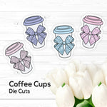 Die Cuts – 1x Coffee Cup - Vinyl Stickers
