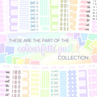 Colourfetti Pastel Collection: Round Solid Half Boxes