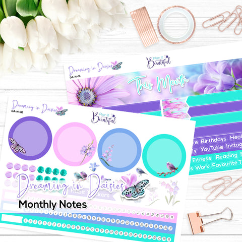 Dreaming in Daisies - Monthly Notes Kit