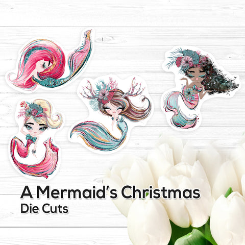 A Mermaid's Christmas: Die Cuts – Vinyl Stickers