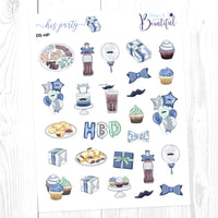 His Party: Deco Sampler