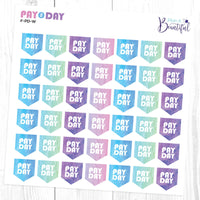 Pay Day Flags - Matte Removable Vinyl - Planner Stickers