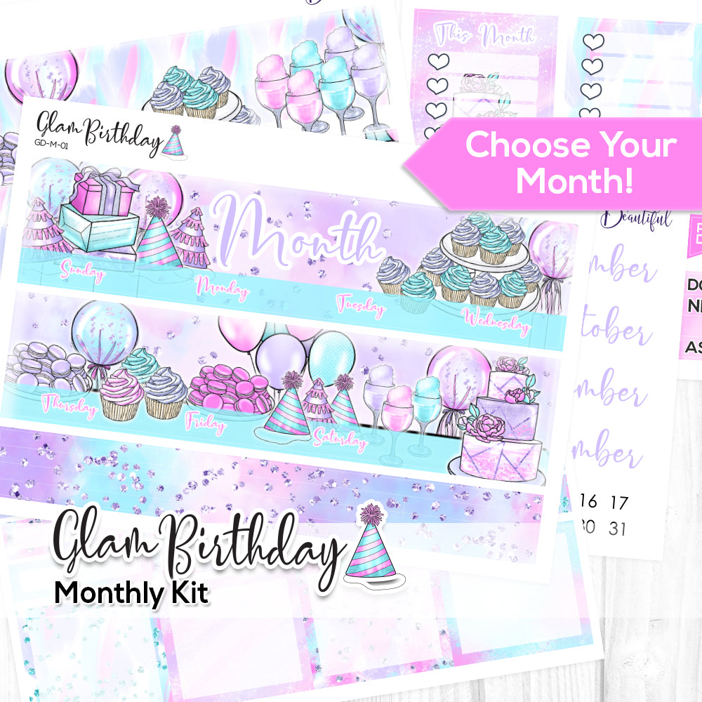 Glam Birthday Monthly Kit