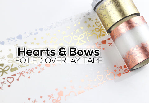 Hearts & Bows Overlay Tape