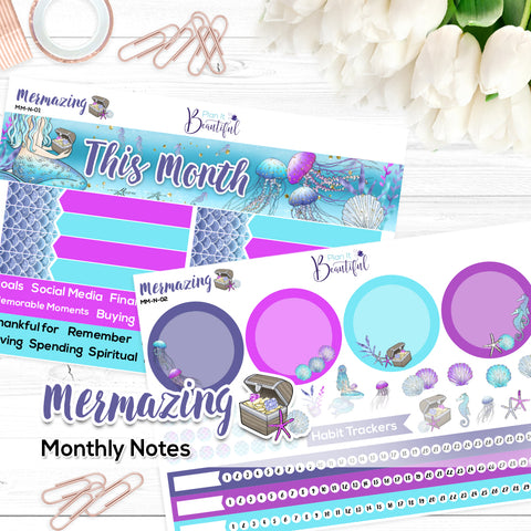 Mermazing - Monthly Notes Kit