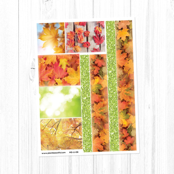Maple Season: Washi Strips & Bottom Washi