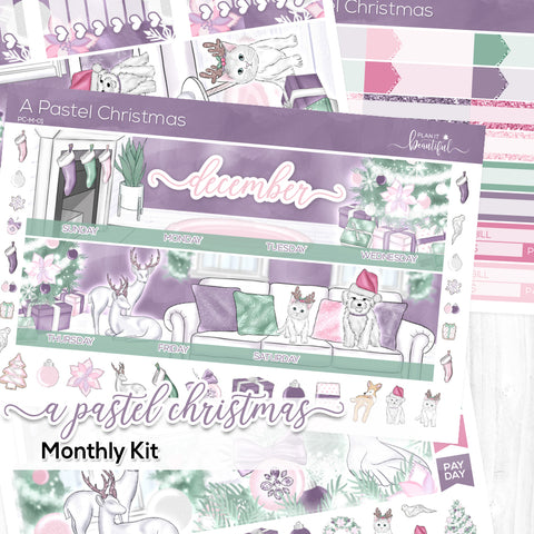 A Pastel Christmas Monthly Kit (New Format!)