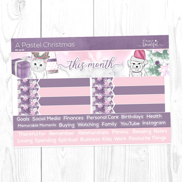 A Pastel Christmas - Monthly Notes Kit