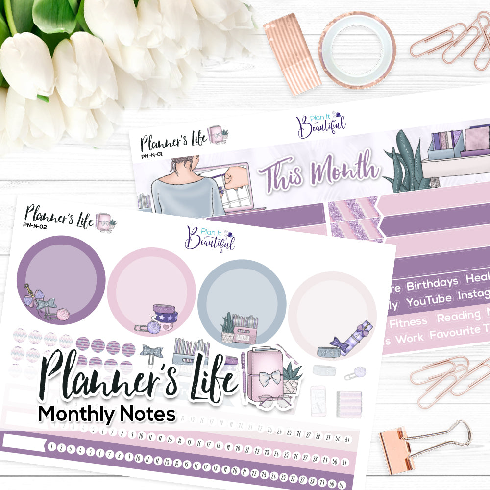 Planner's Life - Monthly Notes Kit