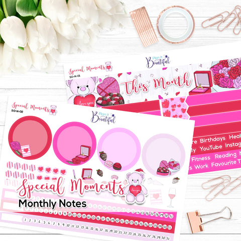 Special Moments - Monthly Notes Kit