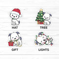 Die Cuts – Sadie- Christmas - Vinyl Stickers