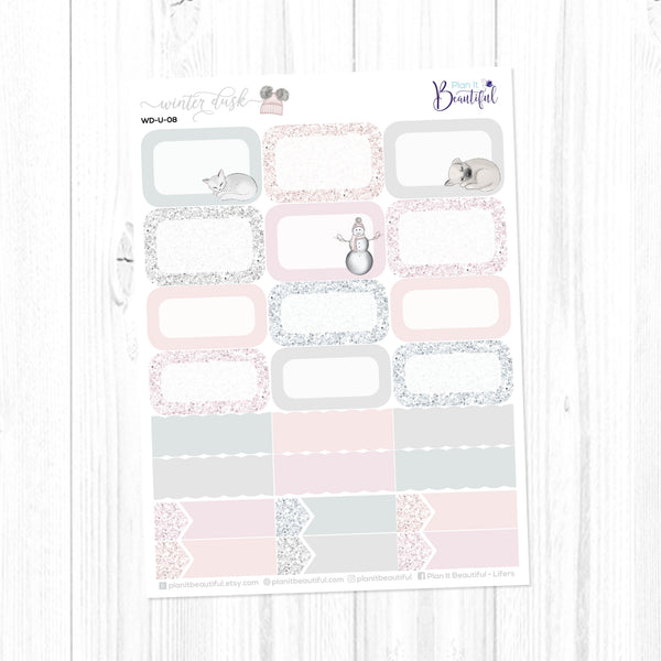 Winter Dusk: Appointment Labels & Half Boxes