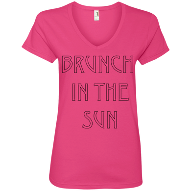 Brunch In The Sun Ladies' V-Neck Tee