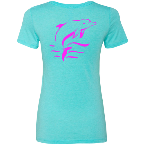 Pink Dolphin Ladies Triblend T-Shirt - The Local Life