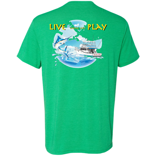 Live Where You Play Men's Tri-Blend Tee - The Local Life