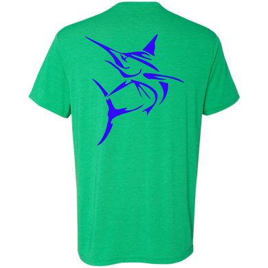 Blue Marlin  Men's Tri-Blend Tee