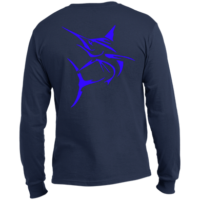 Blue Marlin Long Sleeve Made in the US T-Shirt