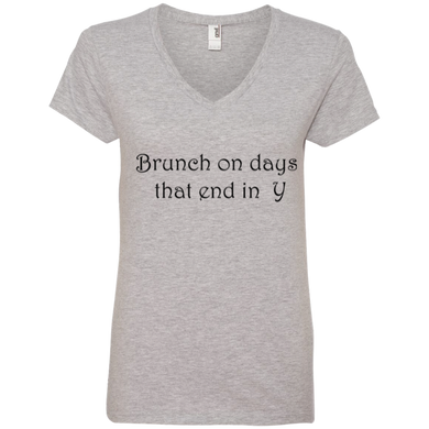 Brunch On Days That End In Y Ladies' V-Neck Tee