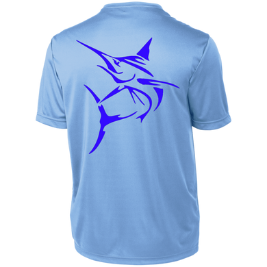 Blue Marlin Short Sleeve Moisture-Wicking Shirt