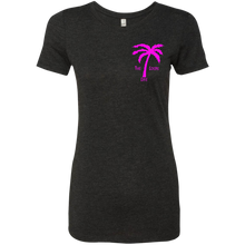 Pink Dolphin Ladies Triblend T-Shirt