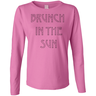 Brunch In The Sun Ladies Long Sleeve Cotton TShirt