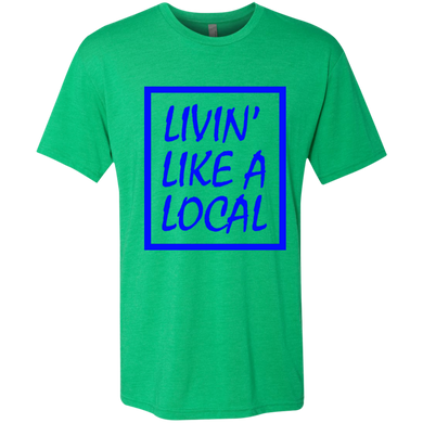 Royal Boxed Livin' Like A Local Men's Tri-Blend Tee