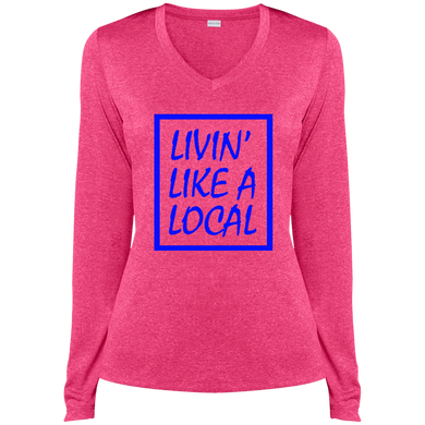 Royal Boxed Livin' Like A Local Ladies' Ladies Dri-Fit V-Neck Tee