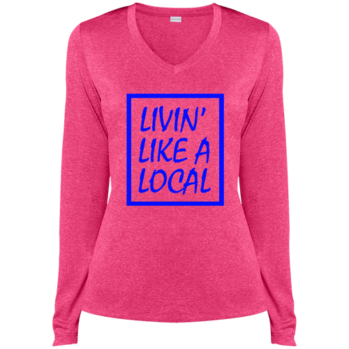 Royal Boxed Livin' Like A Local Ladies' Ladies Dri-Fit V-Neck Tee - The Local Life