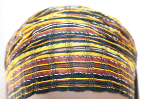 Headband - Brown, Gold, & Black Earth Tone Multicolor Blend - Non-Slip